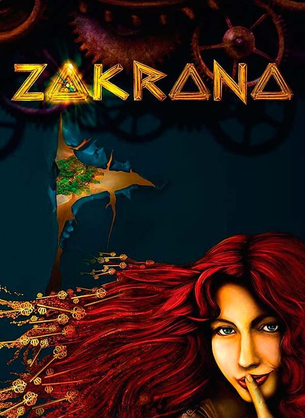 Ilustración y diseño de portada, Zakrana por Hache Holguín