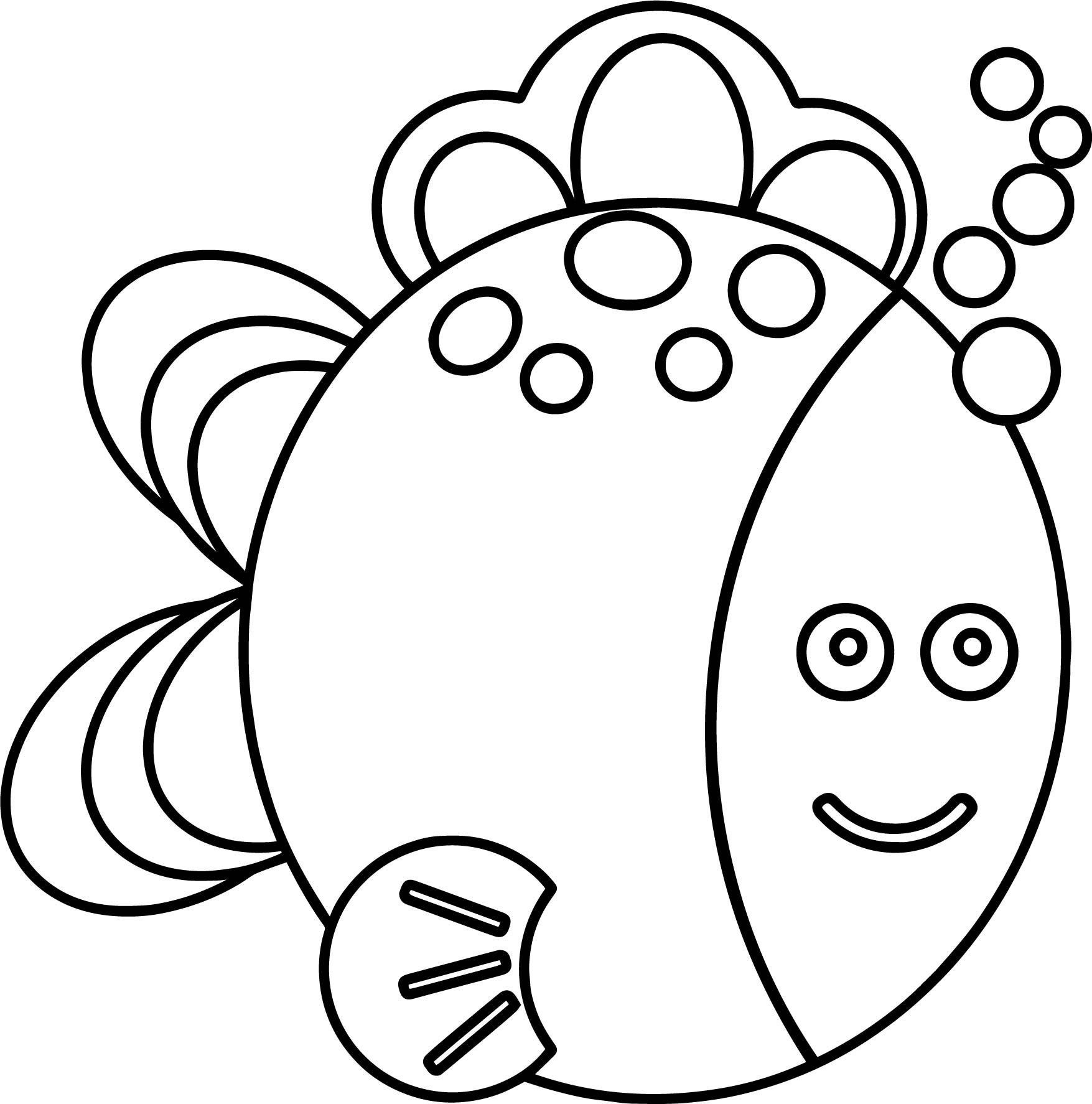 Preschool Fish Coloring Page   Wecoloringpage.com