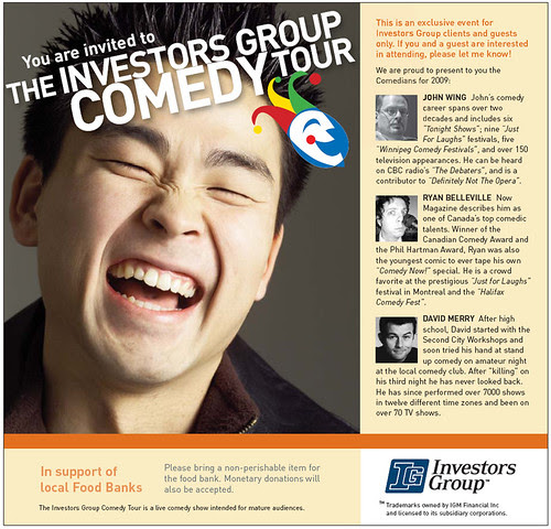 Investors Group Comedy Tour 2009 in support of the Food Bank