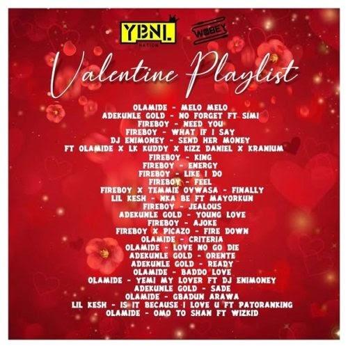 "DJ Enimoney – (YBNL) ""Valentine's Playlist"" Mix"