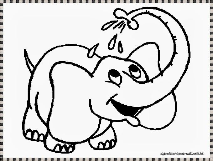 Menggambar Mewarnai Gajah