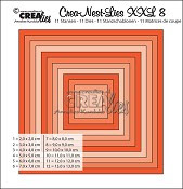 Crea-Nest-Lies set stansen no. 8 XXL / Crea-Nest-Lies dies no. 8 XXL