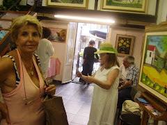 La Presidente Ketti Bosco con Sara Ferretti all'ultima mostra..