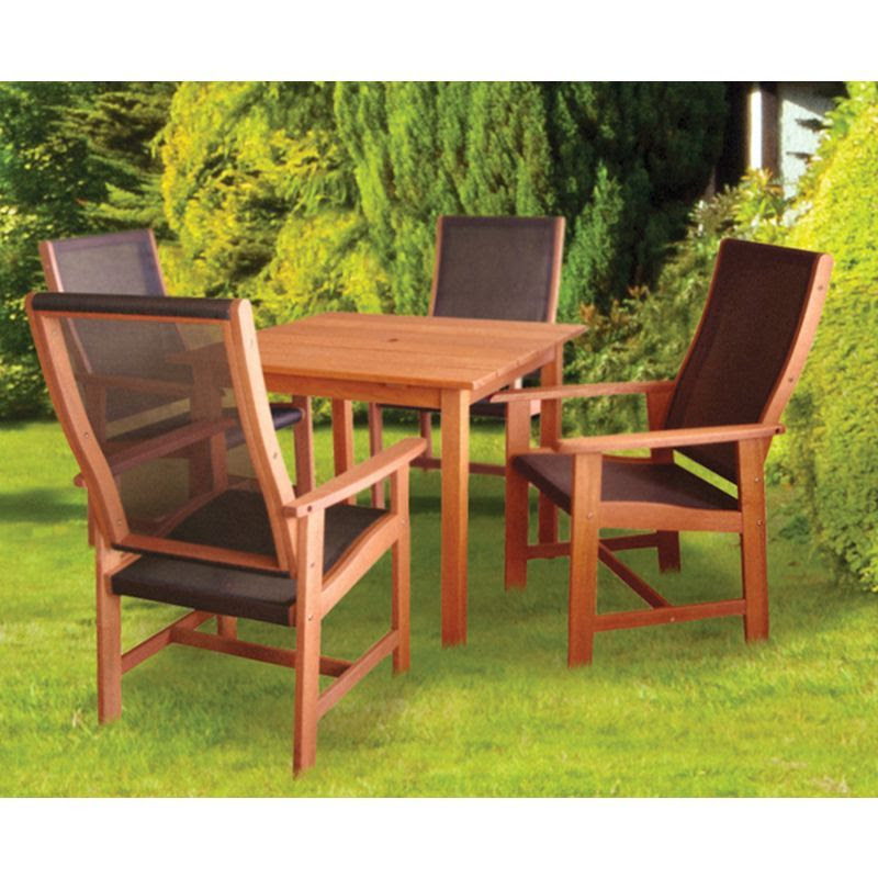 Dalbeattie Textilene Garden Table And Chair Set - Buy ...