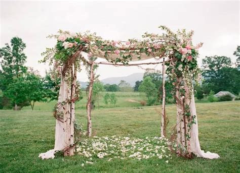 Get Inspired to DIY a Wedding Arch with Silk Flowers for