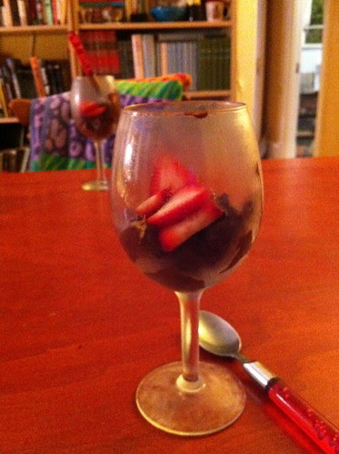 chocolate mousse with strawberries by unglaubliche caitlin