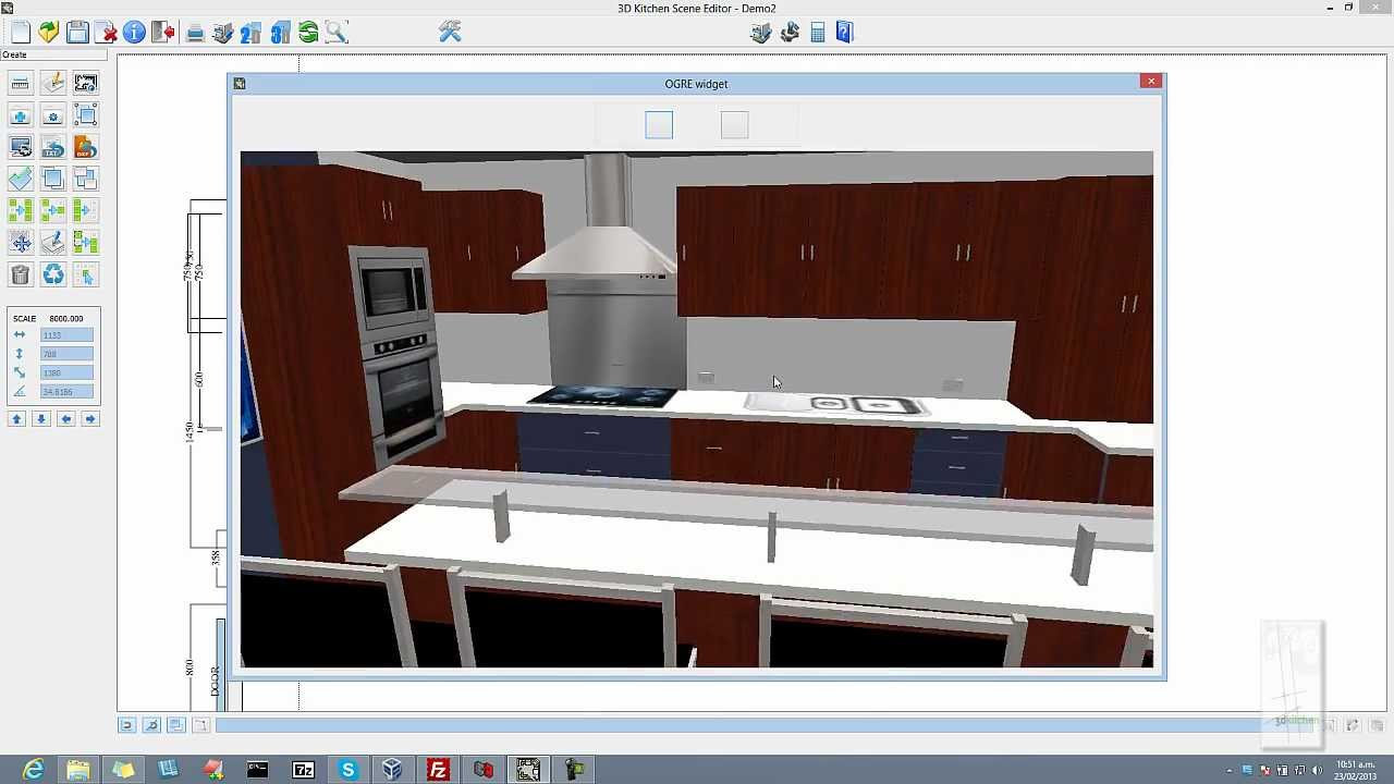 3D kitchen design software 3dkitchen YouTube