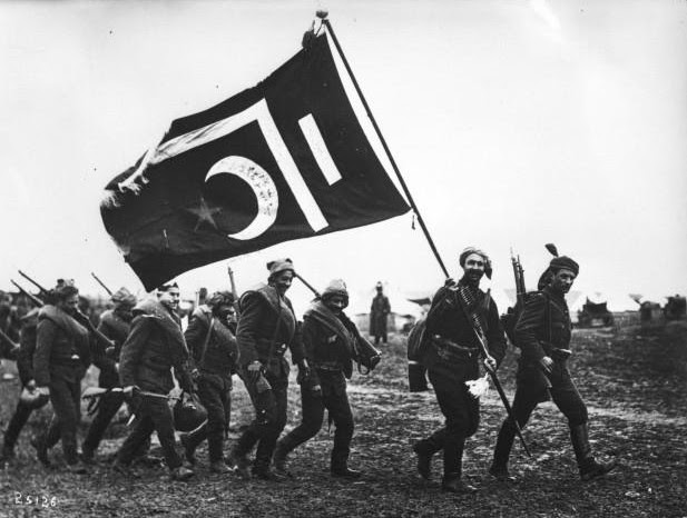 File:Ottoman troops with flag.jpg