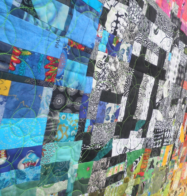 Amazing Tehcnicolor Dream Scrap Quilt