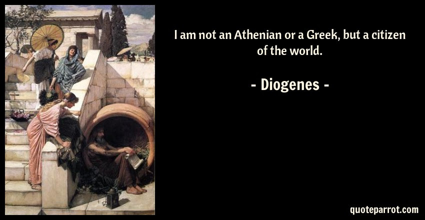 I Am Not An Athenian Or A Greek But A Citizen Of The W By