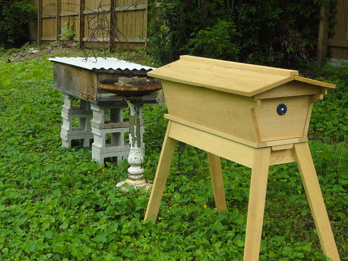 top bar bee hives in Middle Tennessee by kt.ries, on Flickr