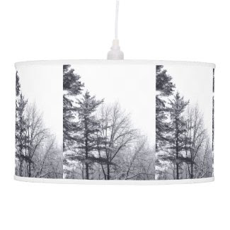 Snow-covered Trees: Vertical Hanging Pendant Lamp