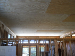Another View of House Library Ceiling Panels Complete