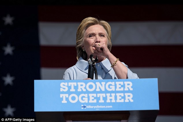 Hillary Clinton caught a case of dry mouth on Monday afternoon that caused her to choke and cough through the first few minutes of her stump speech at a Labor Day event in Ohio