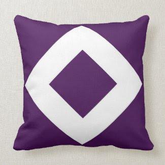Purple and White Diamond Pattern Pillows
