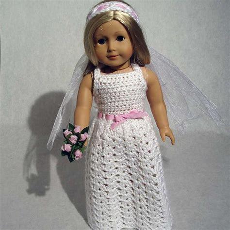 Beautiful Bride Crochet Pattern for 18 Inch Dolls pattern
