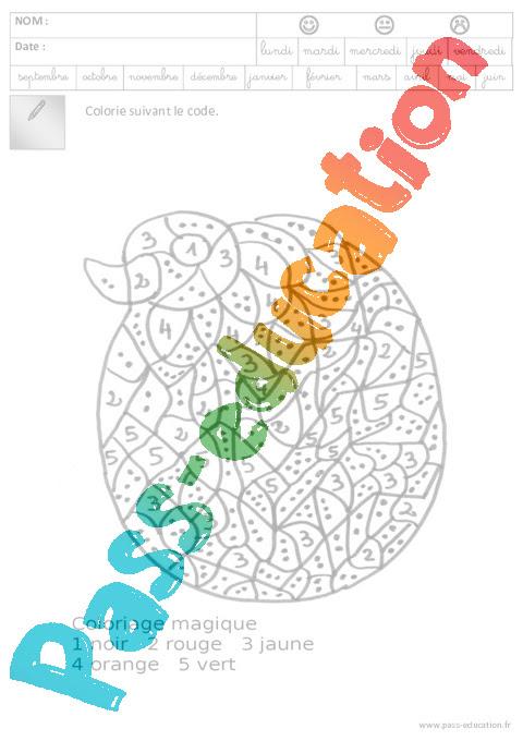 Coloriage Codé Pâques Maternelle Grande Section Gs Cycle 2