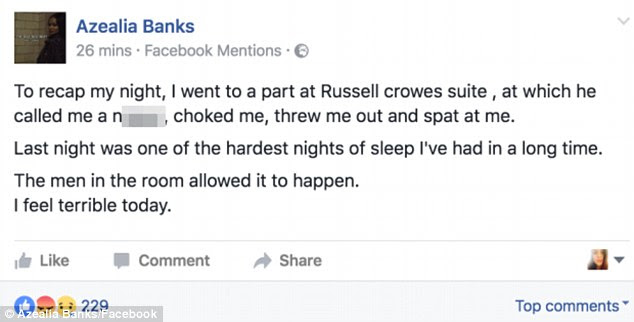 He said, she said: The 25-year-old rapper took to her Facebook to explain her side of the story