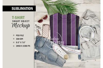 Download Women's Sublimation Smart T-Shirt Mockup, Photoshop File ...
