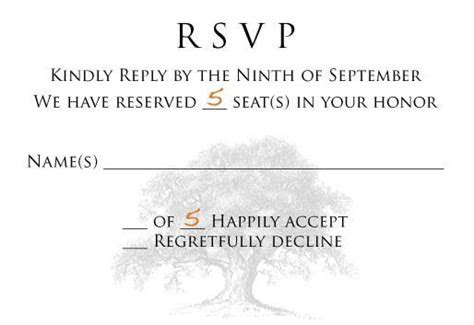 """RSVP curiosity ? """"we have reserved    seats in your honor"""""""