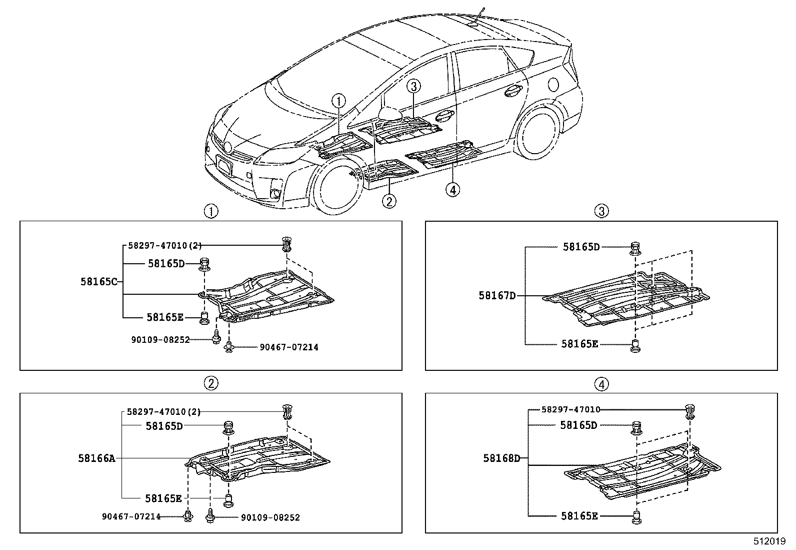 Ford Fusion Undercarriage Diagram