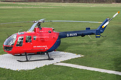 G-BUXS - 1972 build (re-worked in 1993) Bolkow Bo105 DBS-4, temporarily based at Barton
