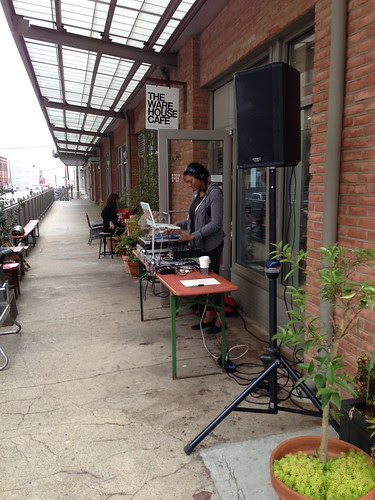 A DJ, at my favorite JC café, Warehouse Cafe