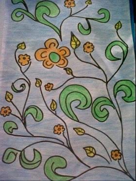 Contoh Gambar Sketsa Batik Yang Mudah Digambar