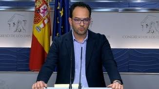 El portaveu dels socialistesal Congrés, Antonio Hernando