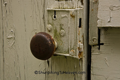Doorknob on Outhouse at Old Rock Church, Iowa County, Wisconsin