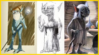 Yoda in the 'concept' stage