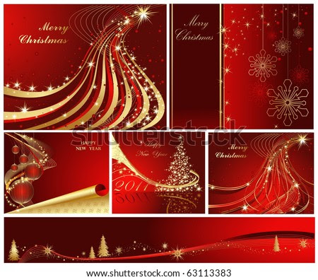 the decorations merry christmas  and happy new year