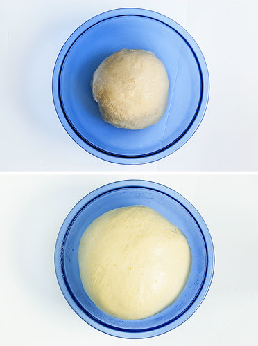 dough - before/after