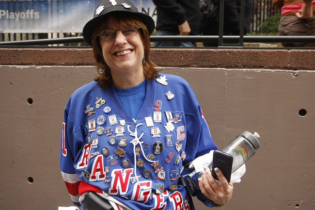 Rangers fan, nyc