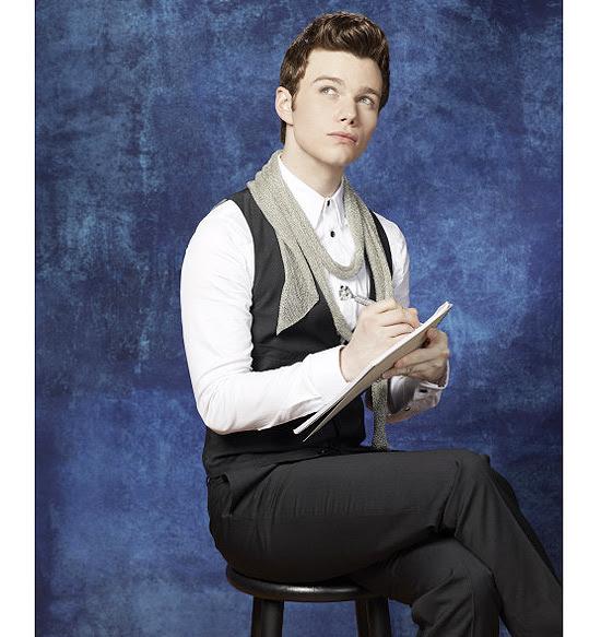 """O ator Chris Colfer na pele do personagem Kurt Hummel, do seriado musical """"Glee"""""""