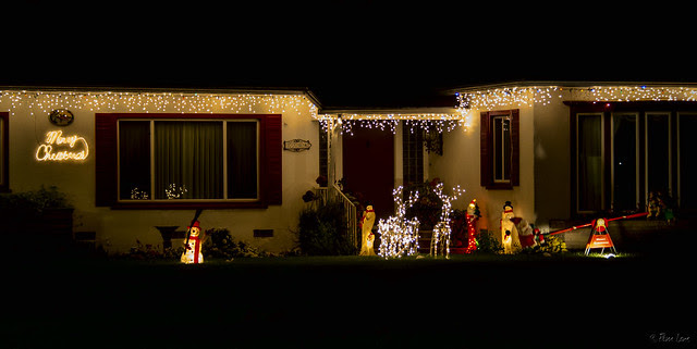 Decorated houses Christmas