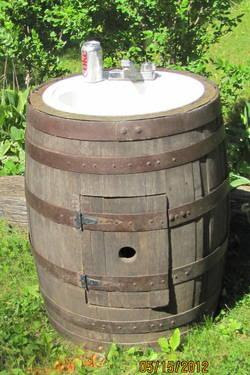 Vintage Whiskey Barrel Sink For Sale In East Farmington Wisconsin