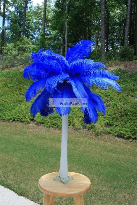 Feather Plume Palm Tree Wholesale CHEAP BULK Discount Blue