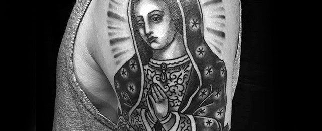 50 Guadalupe Tattoo Designs For Men Blessed Virgin Mary Ink Ideas