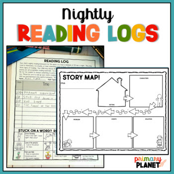 Nightly Reading Log Homework with Reading Responses