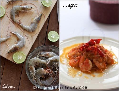 (Dyptychs) Shrimp Balado / Udang Balado