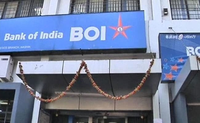 Bank of India shares fell over 7% on Monday.