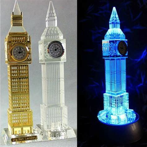 2018 New London Big Ben Clock Model Flash Crystal Craft