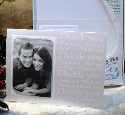 DIY wedding thank you card with photo by Wilton