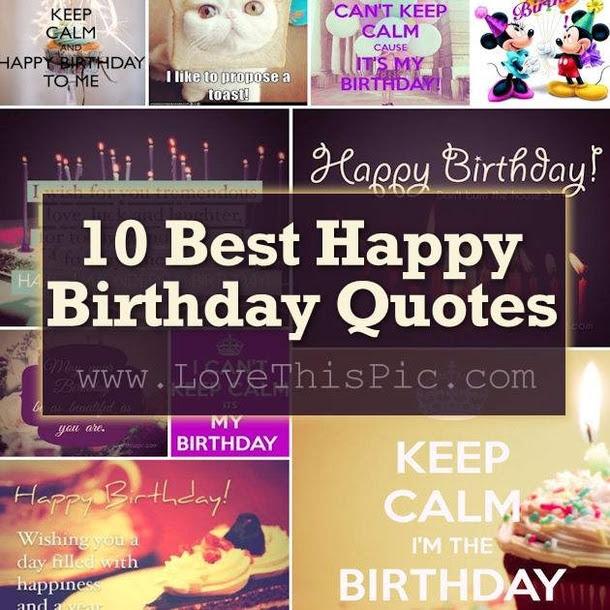 10 Best Happy Birthday Quotes