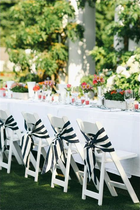 Orange and Navy Country Club Wedding   Table Decor For