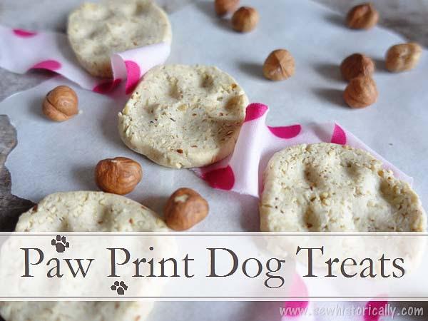 Paw Print Dog Treats by Sew Historically