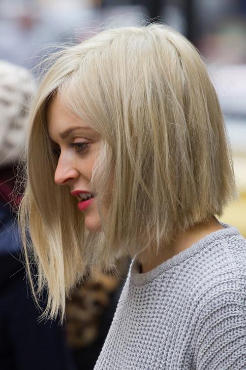 Fearne Cotton Straight Ash Blonde Asymmetrical Bob