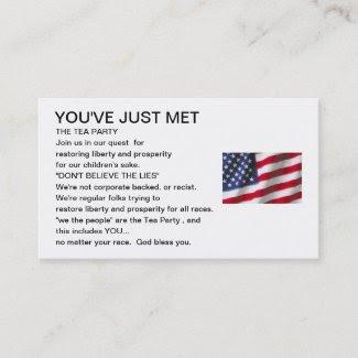 Tea Party Inclusion Card profilecard