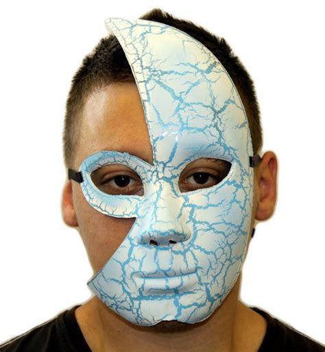 Half Face Cracked Mask   2 Pack